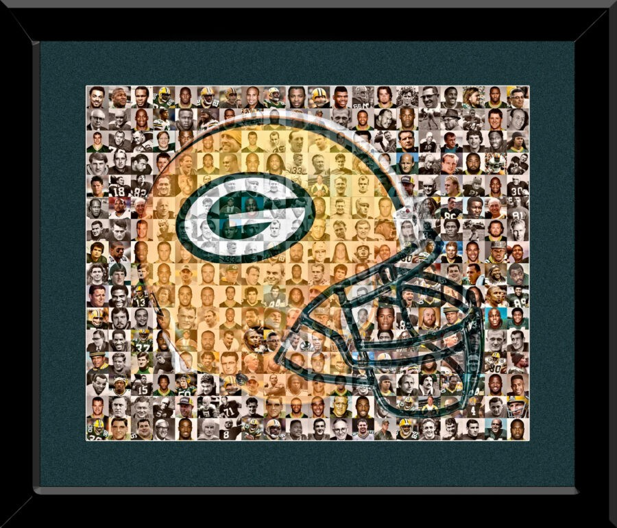The Mosaic Guy - Packers Framed Mosaic