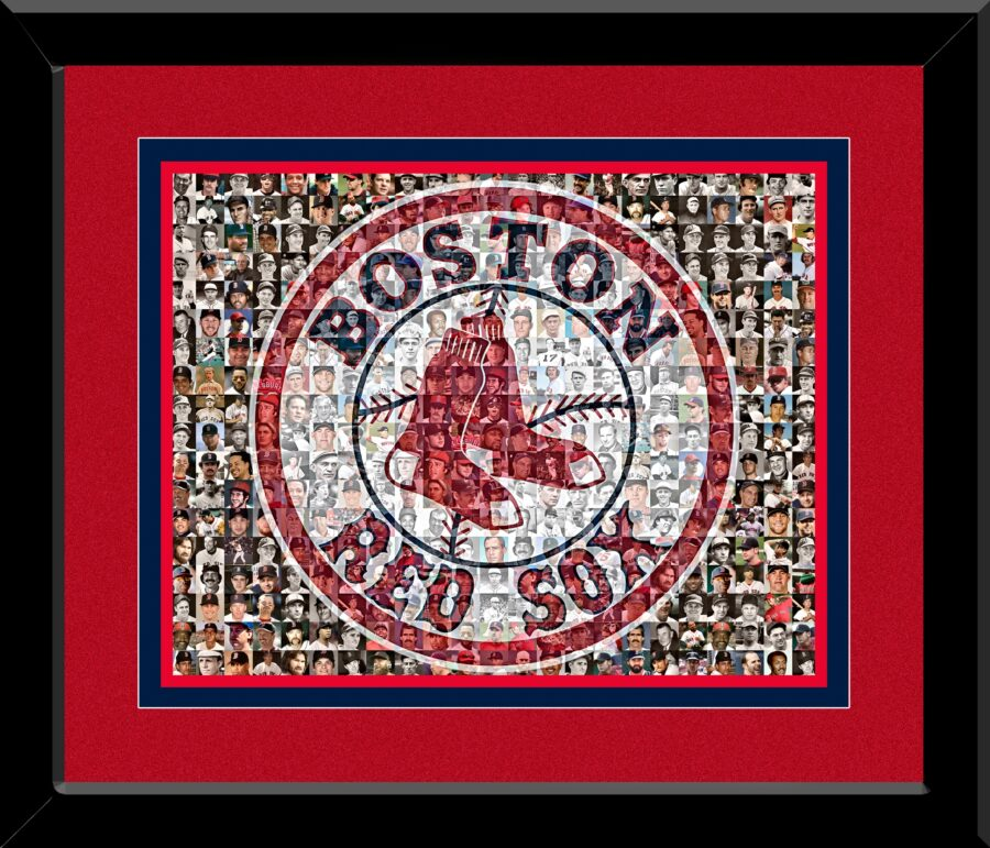 The Mosaic Guy -Red Sox Framed Mosaic